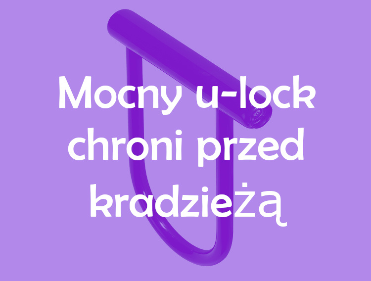Mocny u-lock chroni przed kradzieżą